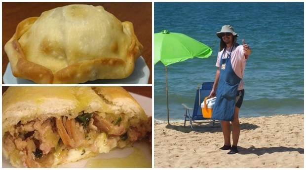 Empreendedor faz sucesso com empada gourmet na praia