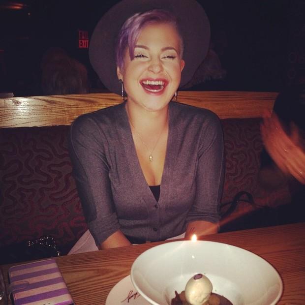 Kelly Osbourne comemora aniversário em Nova York, nos Estados Unidos (Foto: Instagram/ Reprodução)