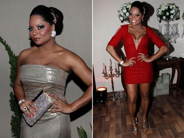 Adriana Bombom usa dois looks em casamento em São Paulo (Foto: Celso Tavares/ EGO)