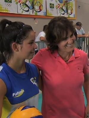 Shelda, vôlei de praia, vôlei, Jogos Escolares (Foto: Reprodução/TV Verdes Mares)