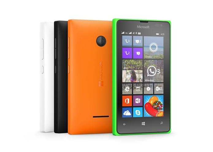 Lumia 435 tem TV Digital e entrada para dois chips (Foto: Divulgação/Microsoft)