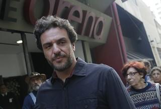 Rodrigo Lombardi no velório de Umberto Magnani (Foto:  Alessandra Gerzoschkowitz / EGO)