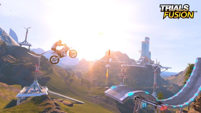Com visual abençoado pelas novas plataformas, Trials Fusion é uma experiência ao mesmo tempo majestosa e hilária (Foto: Divulgação/Ubisoft)