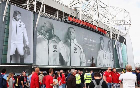 Old Trafford, em Manchester. O United continua a crescer em faturamento apesar dos resultados questionáveis em campo (Foto: Getty Images)