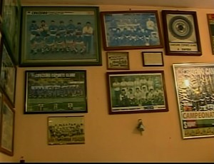 Posteres de colecionador de Araxá (Foto: Reprodução/TV Integração)