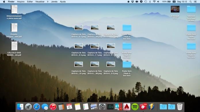 Aprenda a ocultar todos os ícones do desktop do seu Mac com um clique (Foto: Reprodução/Helito Bijora)