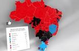 Confira o mapa das curtidas  do Leão da Ilha no Facebook (infoesporte)
