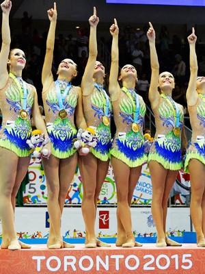 Brasil é ouro na ginástica ritmica; SIGA os Jogos Pan-americanos (Gregory Bull/AP)