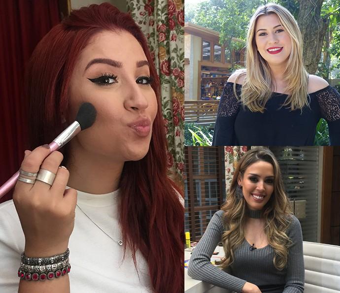 Blogueiras ensinaram muitos truques de maquiagem no É de Casa em 2016 (Foto: Montagem)