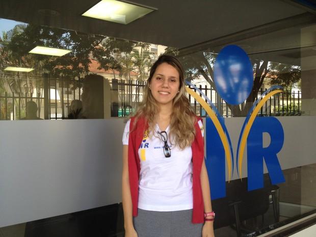 Maria Fernanda de Sene Lima, 20 anos, aluna do Colégio WR em Goiás (Foto: Versanna Carvalho/G1)