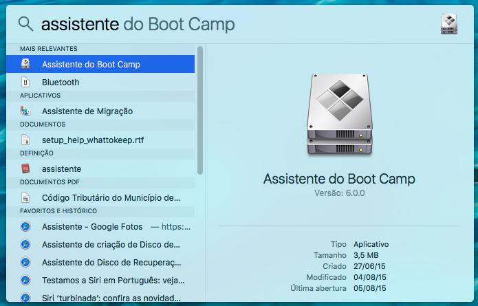 Abra o assistente do Boot Camp no Mac (Foto: Reprodução/Helito Bijora)