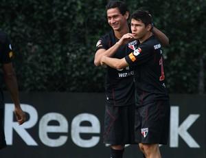 Ganso e Osvaldo no treino do São Paulo (Foto: Luiz Pires/VIPCOMM)