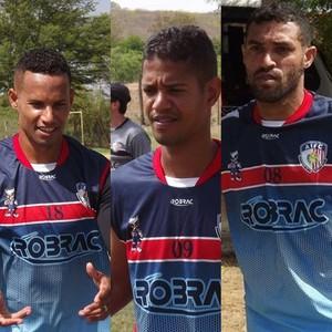 Bebeto, Mizael e Paulista,  Afogados da Ingazeira (Foto: Romário Silva/Ascom Afogados da Ingazeira FC)