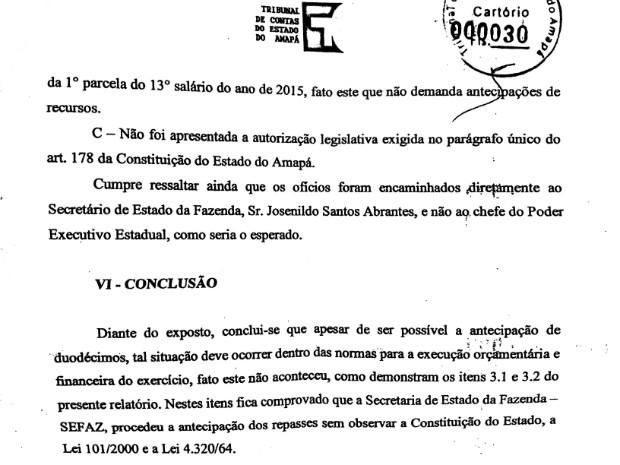 Tribunal de Contas viu irregularidade na antecipação feita pelo governo (Foto: Reprodução)