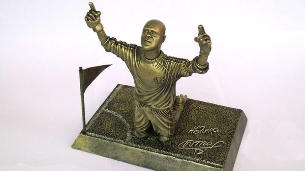 Estatueta do Goleiro Marcos do Palmeiras (Foto: Press FC)