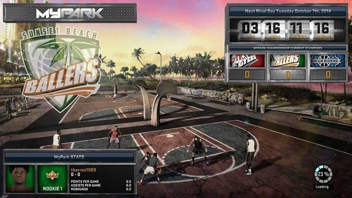 MyPark é novo modo de basquete de rua (Foto: Reprodução/Thiago Barros)