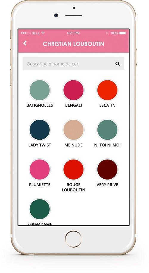 Aplicativo dá dicas de esmaltes similares  (Foto: Reprodução/Divulgação)