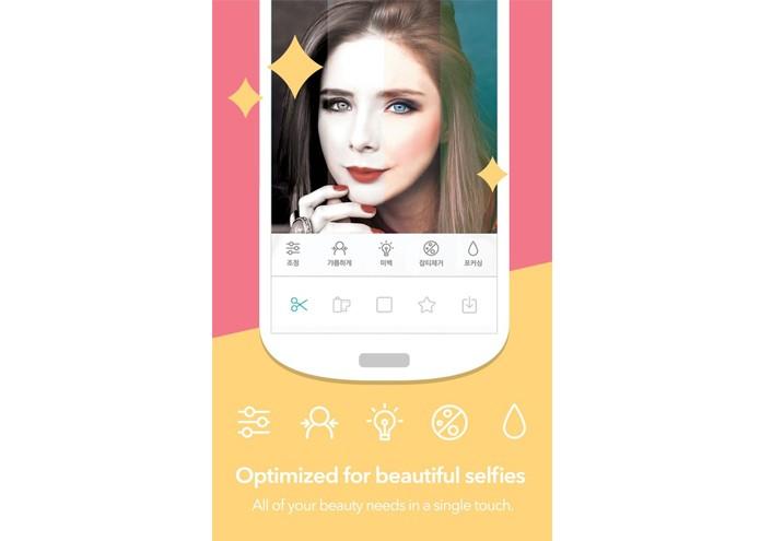 O Candy Camera oferece um recurso que embeleza o rosto, tira manchas da pele e insere até maquiagem (Foto: Divulgação)