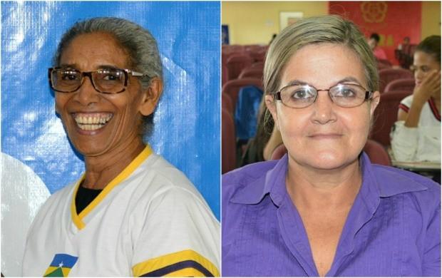 Maria Helena, 66 anos, e Rosângela FErnandes, 51 anos participaram do 'Aulão na Rede' (Foto: Angelina Ayres Medeiros/Rede Amazônica)