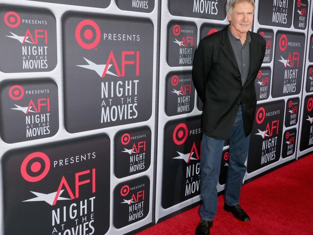 Harrison Ford em premiação de cinema em Los Angeles, nos Estados Unidos (Foto: Frederick M. Brown/ Getty Images/ AFP)