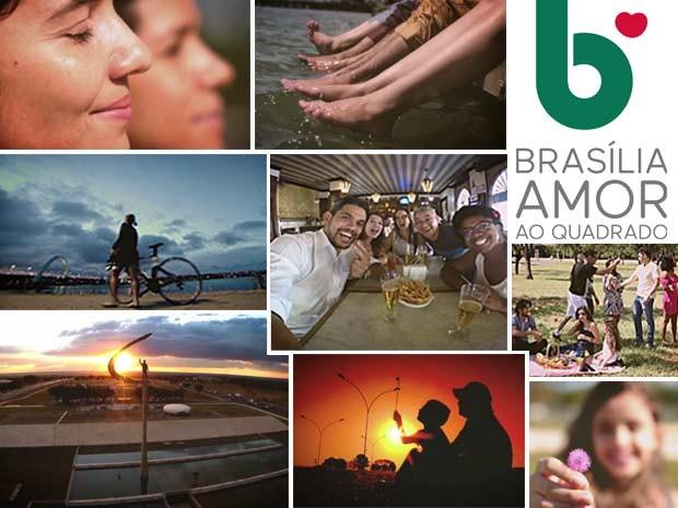 Imagens da campanha Brasília, Amor ao Quadrado (Foto: TV Globo/Reprodução)