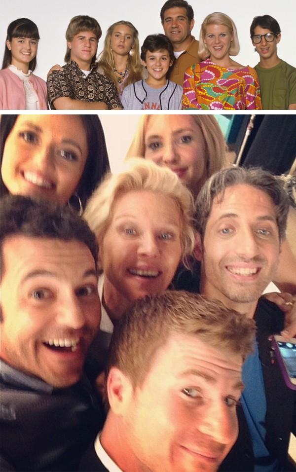 O elenco de 'Anos Incríveis' no fim dos anos 80 e em 2014 (Foto: Getty Images)
