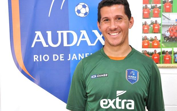 Fabiano Eller, apresentação  Audax Rio (Foto: Anderson Luiz)