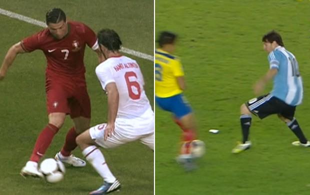 Montagem Abusados É Gol (Foto  Divulgação) Cristiano Ronaldo e Messi ... 0864c65b524d0