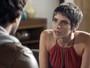 Letícia briga com Tiago e quer saber se o noivo superou Isabela