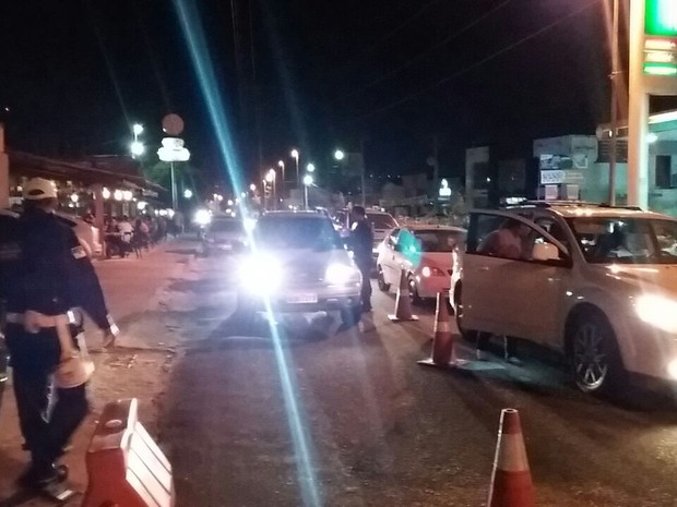Foram ontados seis pontos de fiscalização (Foto: Divulgação/Polícia Militar do RN)
