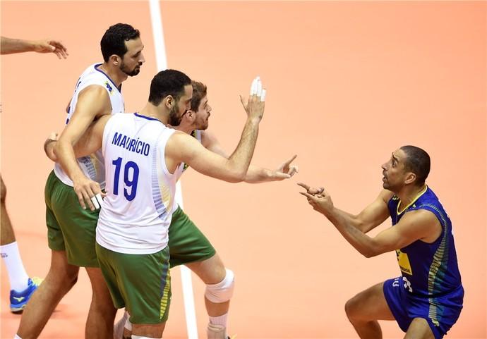 Brasil x Bulgária Liga Mundial vôlei (Foto: Divulgação /FIVB)