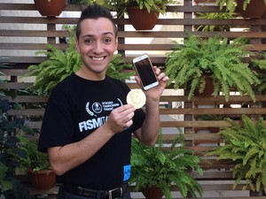 Vierini tem outros dois títulos mundiais  (Foto: Bruno Rodrigues/G1)