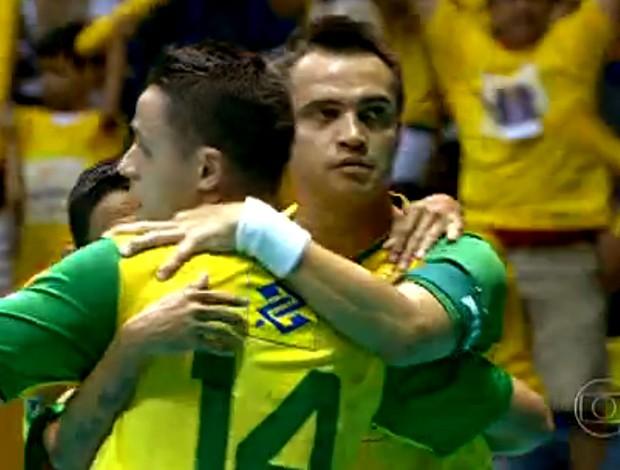 FRAME - futsal Falcão brasil paraguai (Foto: TV GLOBO)