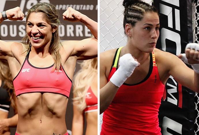 MONTAGEM - UFC  Bethe Correia e Jessica Eye (Foto: Editoria de Arte)
