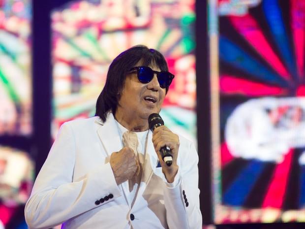 O cantor Marciano canta clássicos da carreira ao lado de Milionário em Barretos (Foto: Érico Andrade/G1)