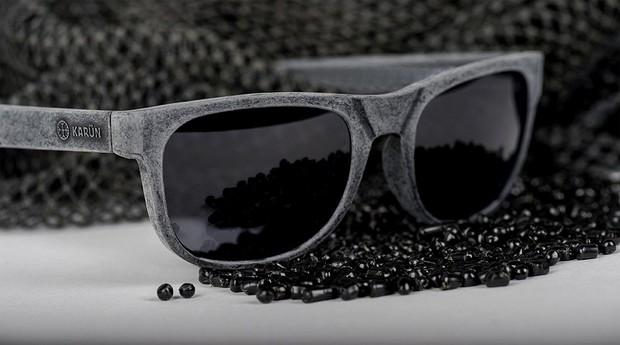 Óculos da Karün são feitos de redes de pesca recicladas (Foto: Divulgação)