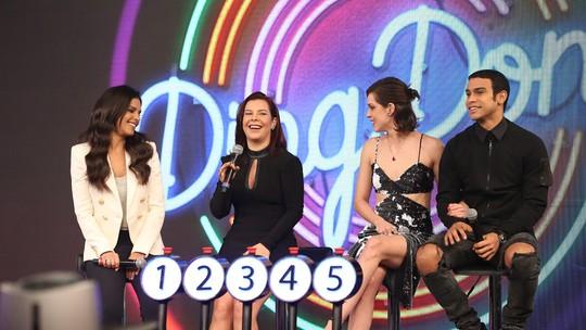 Sophia Abrahão e Sérgio Malheiros disputam o 'Ding Dong' com Mariana Rios e Fernanda Souza