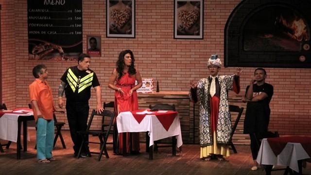 Especial Humor no Ceará, espetáculo Assando é Que Se Queima. (Foto: Luanna Gondim / TV Verdes Mares)