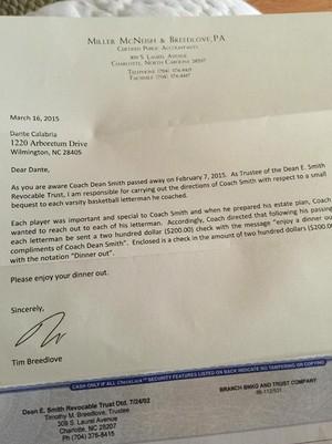 carta Dean Smith (Foto: Twitter)