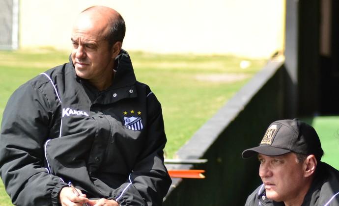 André Gaspar e técnico PC Gusmão Bragantino (Foto: Filipe Rodrigues)