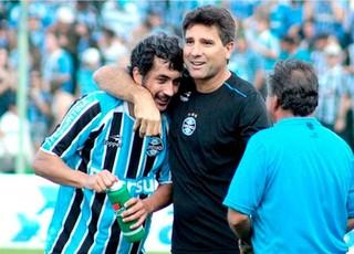 Douglas e Renato no Grêmio (Foto: Ag. Estado)