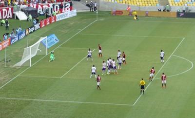 Gol de Luiz Antônio - Flamengo x Orlando City (Foto: Fred Gomes)