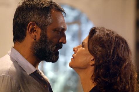 Miguel (Domingos Montagner) e Lígia (Débora Bloch) (Foto: TV Globo)