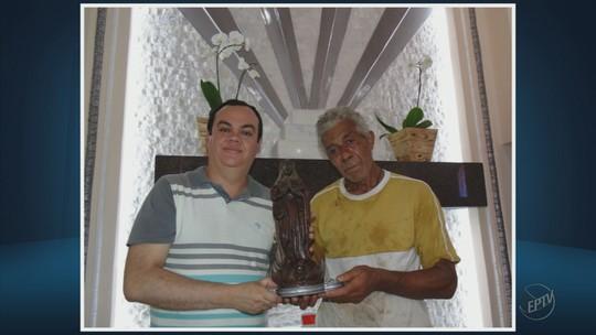 Imagem levada de igreja é encontrada em córrego de Três Pontas, MG