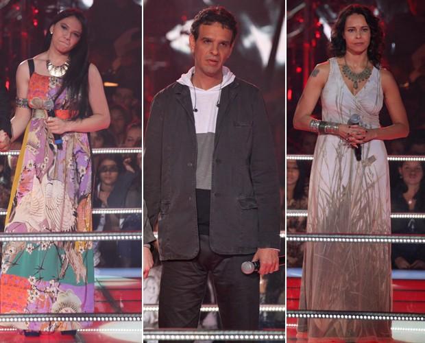 Eloisa, Barbara e Paulo foram os eliminados da primeira Batalha (Foto: The Voice Brasil/TV Globo)