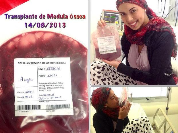 Aline Wega, ex-miss Campinas, se emociona antes de transplante de medula óssea (Foto: Arquivo Pessoal/ Aline Wega)
