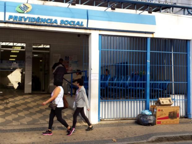 Agência do INSS em Campinas onde são feitas as perícias médicas (Foto: Clara Rios/G1)