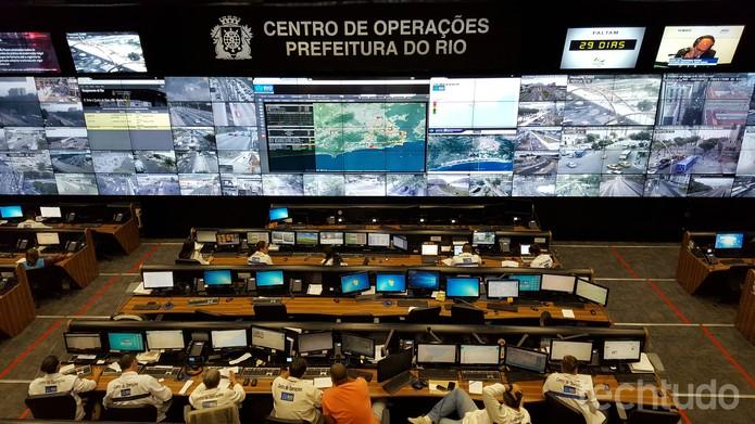 Centro de Operações Rio monitora a cidade para gerenciar crises (Foto: Aline Batista/TechTudo)