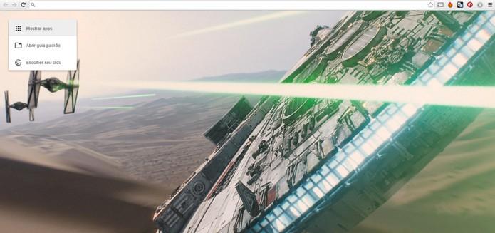 Extensão para Google Chrome mostra em nova aba imagens do novo filme de Star Wars (Foto: Reprodução/Barbara Mannara)