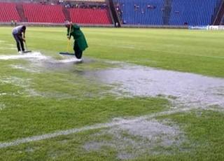 Sampaio x Avaí - muita chuva no Estádio Castelão (MA) (Foto: Divulgação / site do Sampaio)